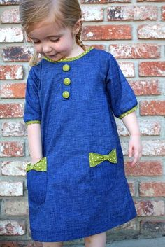 Cute bow dress - Craftiness Is Not Optional