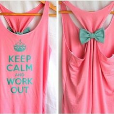 Keep calm and work out.
