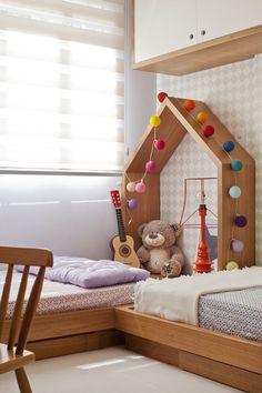 wooden kids bedroom