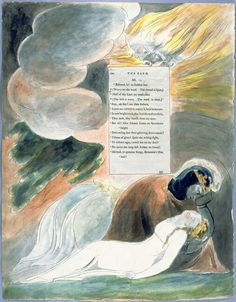 William Blake pen pencil and watercolour