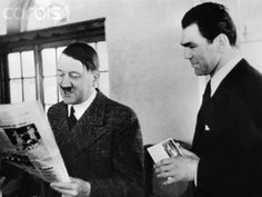 Hitler smiles and Max Schmeling, at Obersalzberg, Hitler's country home in the Bavarian Alps.