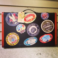 """Excited to share the latest addition to my #etsy shop: Suit Case / Luggage Labels / Vintage Luggage / Travel Case / Luggage / Suit Case / 21"""" X 16"""" X 6.5"""""""