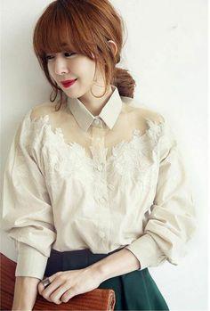เสื้อแฟชั่นเกาหลี สวยมากค่ะ [JJ327]