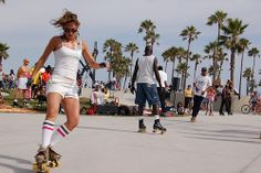"Being 14 years old with my two best friends on roller skates that never came off and the Venice beach boardwalk as our playground. Someone told us 14 year old girls are brutal. No, but they are ""Audacious."""