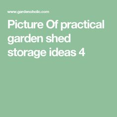 Picture Of practical garden shed storage ideas  4