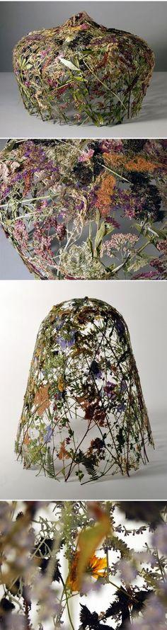 Ignacio Canales Aracil - pressed flower sculptures <3
