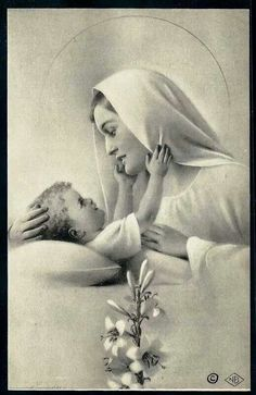 Love this image of Our Lady and baby Jesus!                              …