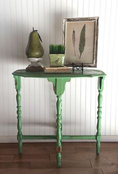 Fun green vintage accent table - The Bee's Knees Antiques & Interiors, Castle Rock, CO