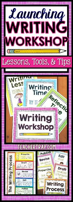 Set the stage for a successful year of writing with these handy lessons, posters, tips and tools!  Writing Workshop just got easier! :)