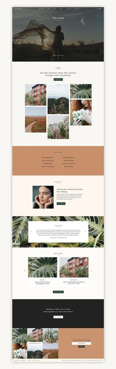 Paloma Website Template by Station Seven