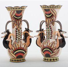 Ardmore Ceramics:  Buck Vase pair AAA