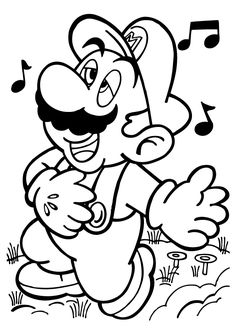 Super Mario Bros Coloring Pages 40 Free Printable Coloringpagesfuncom Felt