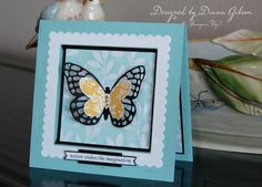 A Butterfly to Brighten the Day by Diana Gibson - Cards and Paper Crafts at Splitcoaststampers