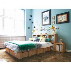 STANGE DESIGN Pappbett Mit Bettkästen 1,20m   1,80m DREAM U0026 DROPS