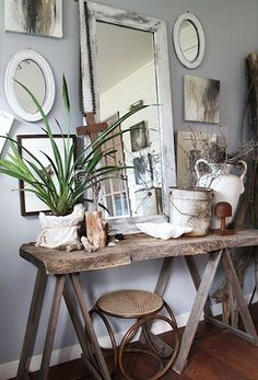 I love the styling of this home! Rustic and gorgeous!