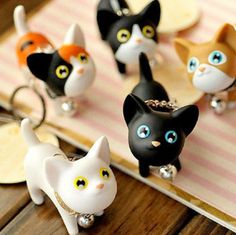 These adorable Kitty Keychains are purrfect for carrying your keys around. You'll never misplace your keys again with a cute kitty hanging onto them! Available in a range of colors and cute faces, you'll fall in love with them all! The purr-rect gift for any cat lover. Click through to see them all!
