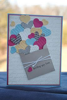 Sending Love by MarlaR - Cards and Paper Crafts at Splitcoaststampers kartendiy Pretty Cards, Love Cards, Handmade Birthday Cards, Greeting Cards Handmade, Valentine Day Cards, Holiday Cards, Karten Diy, Creative Cards, Anniversary Cards