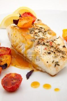 Halibut with Mustard sauce