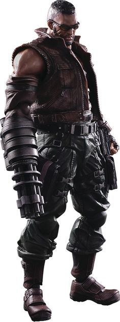 Crunchyroll - Barret Wallace Play Arts Kai Action Figure - Final Fantasy VII Remake