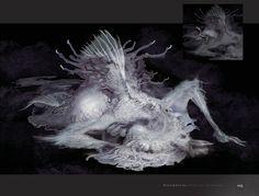 Bloodborne art from mantiheaer Arte Horror, Horror Art, Creature Feature, Creature Design, Mythological Creatures, Fantasy Creatures, Dark Fantasy, Fantasy Art, Bloodborne Art