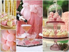 I am not sure if my sister would like all the pink, but this is such a traditional bridal shower theme that I just had to pin it.  -Entertaining with Pink Champagne from Kim Stoegbauer.