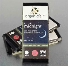 Midnight. Chocolate orgánico oscuro 90% cacao.