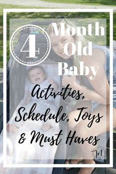 When did that happen? Here's our 4 Old Baby: Schedule Activities Milestones and it all - Healthy Little Mama Baby Schedule 4 Months, 4 Month Old Schedule, Working Mom Schedule, Working Moms, 4 Month Old Routine, Sleep Schedule, 4 Month Old Baby Activities, Infant Activities, 4 Month Olds
