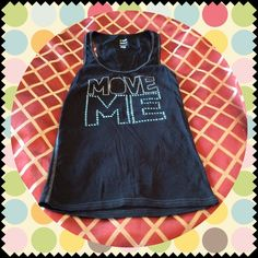 Zumba Black Tank Zumba black Racerback  with silver and blue metallic accents. Worn only twice, excellent condition. Zumba Tops Tank Tops