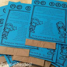 Me Bags! I can't wait for the students to share their with the class today! A…