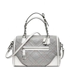 Coach Poppy East/West Pocket Satchel In Quilted Jersey ($328)