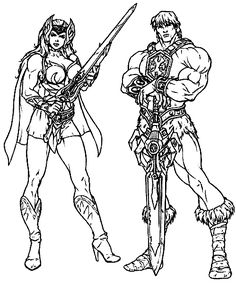 He Man coloring page