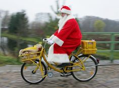 Bicycle Santa