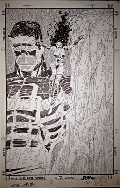 Some John Romita, Jr. pages in black and white for your appreciation. He is one of my all-time favorites. Marvel Art, Daredevil Art, Drawings, Original Drawing, Artwork, Romita, Original Art, Jr Art, Comic Book Drawing