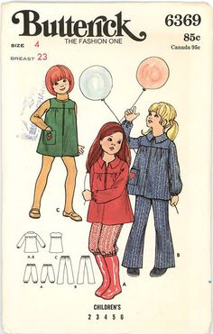 Vintage Butterick Pattern 6369  Children's by stillinvoguevintage, $5.00