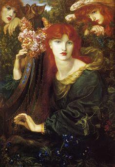 Dante Gabriel Rossetti : La Ghirlandata 1873