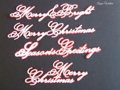 Script Sentiments CraftROBO Cameo on Craftsuprint designed by Tina Fitch - A few Christmas Sentiments from a script font..... Add to your own cards - Now available for download!