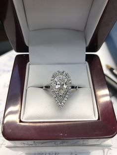 Handmade Engagement Rings, Pear Shaped, Diamond Rings, Heart Ring, Jewellery, Jewels, Jewelry Shop, Jewerly, Heart Rings