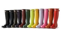 Hunter boots. One in each color please.  They are so comfortable and allow me to walk through anything #wellies #rainboots