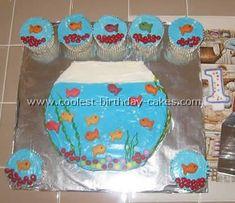 Fish Birthday Cake | Coolest Homemade Aquarium and Fish Birthday Cake Photos