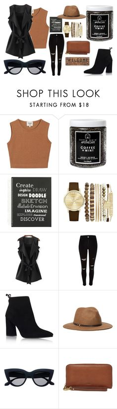"""Daily"" by mad-olien ❤ liked on Polyvore featuring Samuji, Little Barn Apothecary, Eccolo, Jessica Carlyle, River Island, Stuart Weitzman, Ace of Something, FOSSIL and Primitives By Kathy"