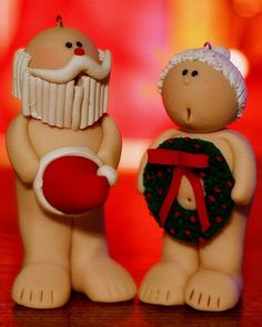 Funny Santa Claus And Mrs Claus, Christmas Crafts @Alysha Schmidt Dratch Record you should totally make these!