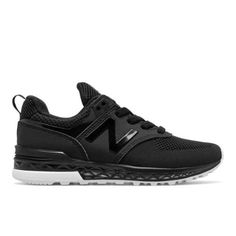 574 Sport Kids' Pre-School Lifestyle Shoes - Black/White (KFA5745P)