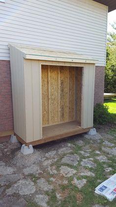 Backyard Walkway, Backyard Sheds, Backyard Landscaping, Garden Sheds, Diy Storage Shed, Backyard Storage, Barn Storage, Lean To Shed Plans, Diy Shed Plans
