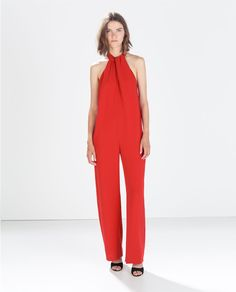 Image 1 of JUMPSUIT WITH BOW AT THE BACK from Zara