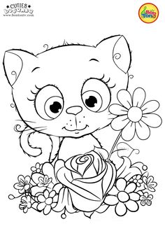 Cuties Coloring Pages for Kids – Free Preschool Printables – Slatkice Bojanke – Cute Animal Coloring Books by BonTon TV Free Kids Coloring Pages, Coloring Pages For Teenagers, Fall Coloring Pages, Cat Coloring Page, Coloring Sheets For Kids, Animal Coloring Pages, Printable Coloring Pages, Coloring Books, Free Preschool