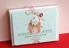 tie twine around the outside of the clear box and add a cute large label over the top | Danielle Flanders