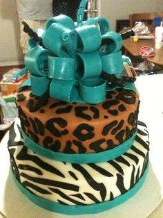 I Want This For My 16th Birthday Party !!!animal print cakes - Bing Images
