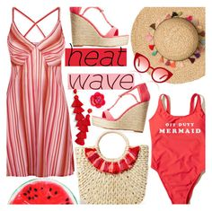 """""""(Top Fashion Set for 8/8/17!!!) Heat Wave"""" by chey-love ❤ liked on Polyvore featuring La Perla, Hollister Co., Hat Attack, Charlotte Russe, BaubleBar, Kate Spade and Spektre"""