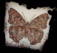 Butterflie, blackwork 1/3