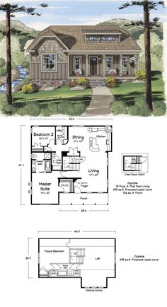 A great cabin floor plan. Awesome kitchen and loft!